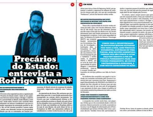 Precários do Estado: entrevista a Rodrigo Rivera